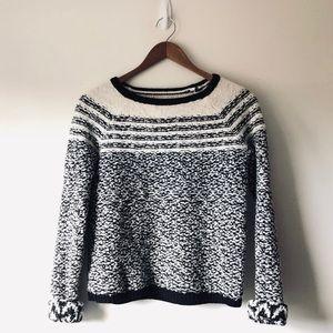 Lou & Gray Knit Heathered Striped Sweater (XS)